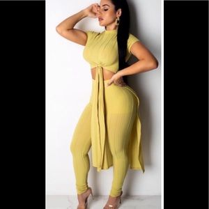 Other - Two piece yellow bodycon set